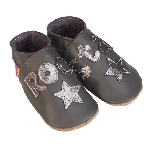 STARCHILD - Chaussons cuir souple - Rock Star Grey