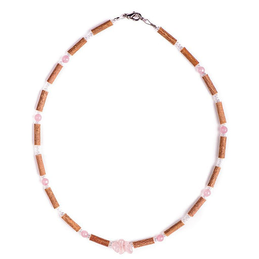 PUR NOISETIER - Collier adulte et adolescent Quartz rose