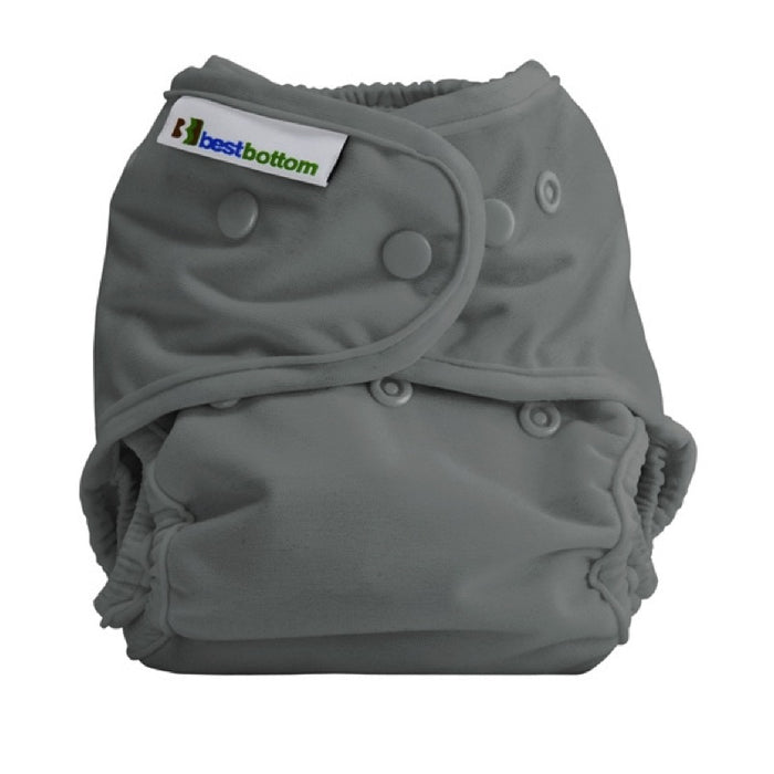 BEST BOTTOM DIAPER - Culotte de protection à pressions TE2 - One Shade of Gray