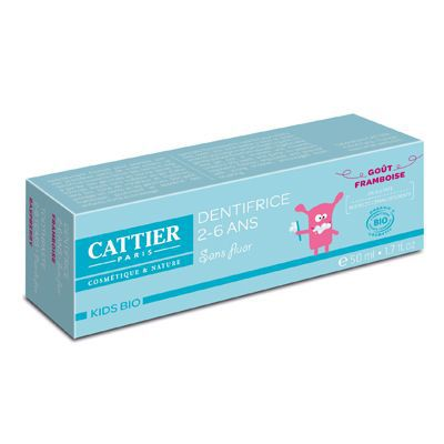 CATTIER - Dentifrice Kids 2-6 ans - Framboise