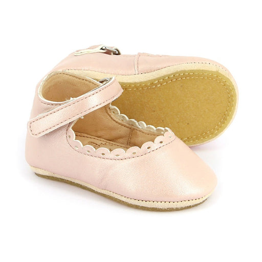 EASY PEASY - Chaussons salomés en cuir Charlie - Rose baba