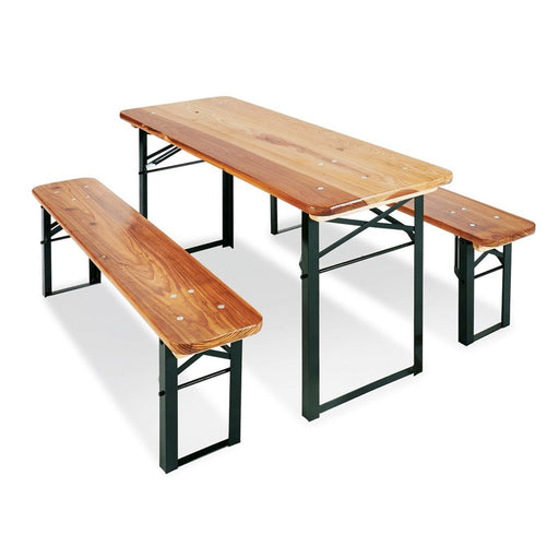 PINOLINO - Ensemble table et bancs en Pin Sepp