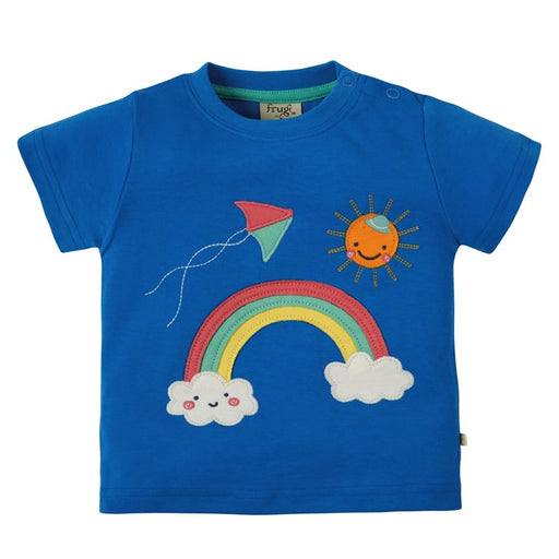 FRUGI -  T-shirt manches courtes Creature bio - Sail Blue Rainbow