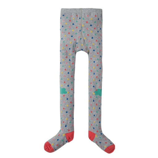 FRUGI - Collants coton bio - Grey Marl Raindrops Clouds