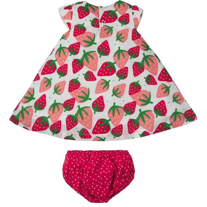 FRUGI - Ensemble Polly robe et bloomer bio - Scilly Strawberries SS19 6-12m