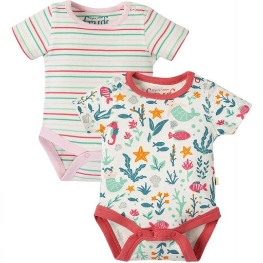 FRUGI - Lot 2 bodies Bailey coton bio - Mermaid