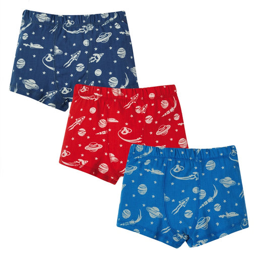 FRUGI - Lot de 3 boxers Treen Trunks coton bio - Space Multipack