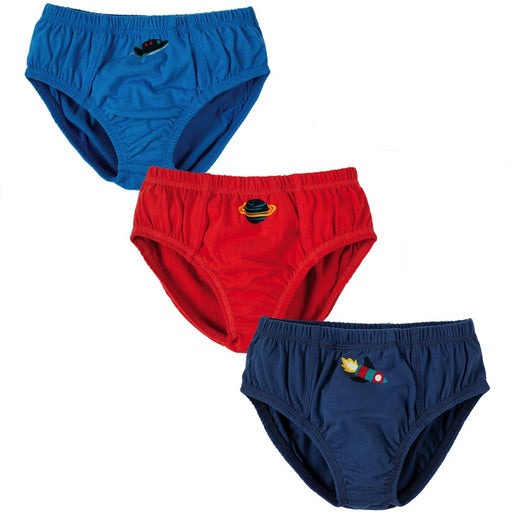 FRUGI - Lot de 3 slips Preston coton bio - Space Multipack