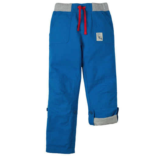FRUGI - Pantalon bio Adventure Roll Ups - Sail Blue