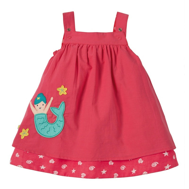 FRUGI - Robe réversible Rosemary coton bio - Coral Mermaid