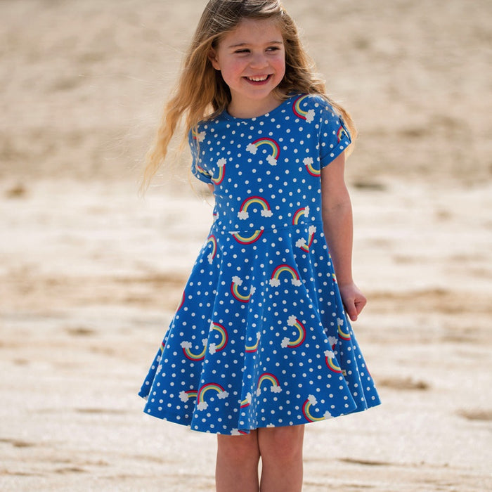 FRUGI - Robe Spring Skater jersey coton bio - Over The Rainbow