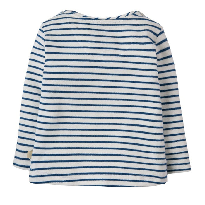 FRUGI - T-shirt manches longues Everest coton bio - Puffin Blue Breton Lighthouse