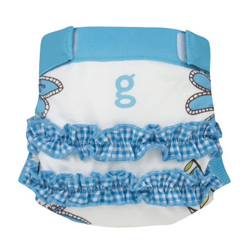 GDIAPERS - Culotte Little gPants - Girly Twirly Blue