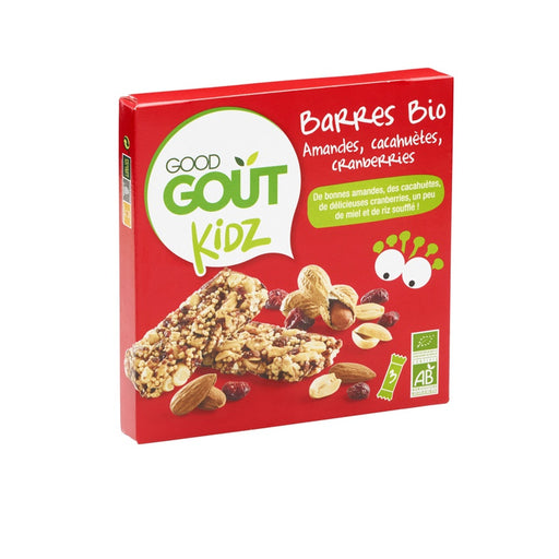GOOD GOUT - Barres bio Amandes Cacahuètes Cranberries