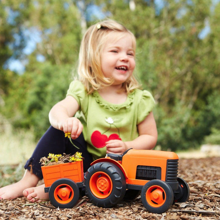 Green Toys - Tracteur orange