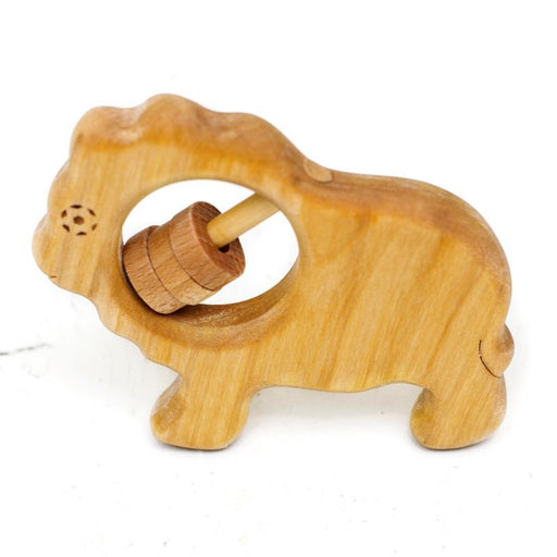 WOODEN TOY GALLERY - Hochet en bois - Lion
