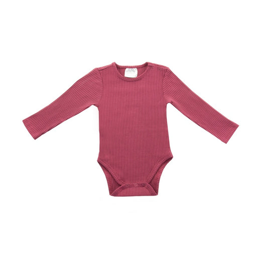 Jollein - Body manches longues bio - Rib maroon red