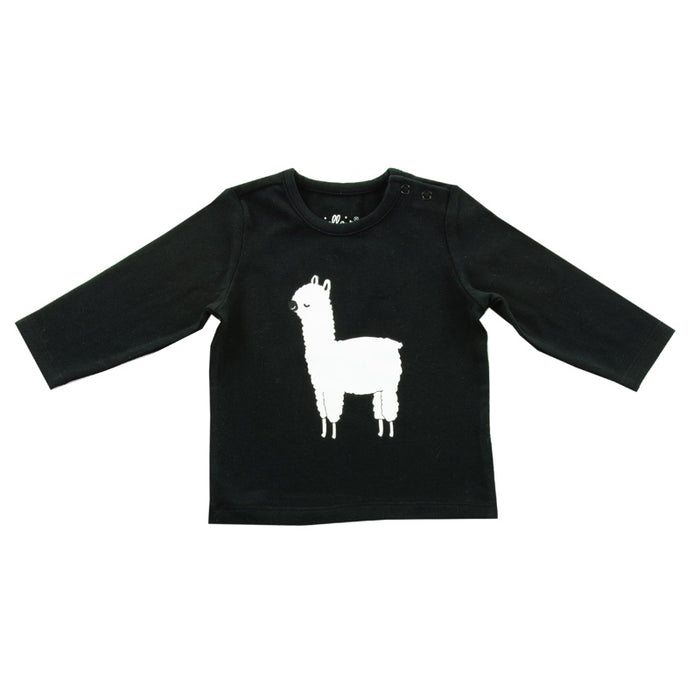 Jollein - T-shirt manches longues coton bio - Lama black and white