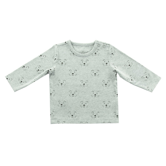 Jollein - T-shirt manches longues coton bio - Little lion grey