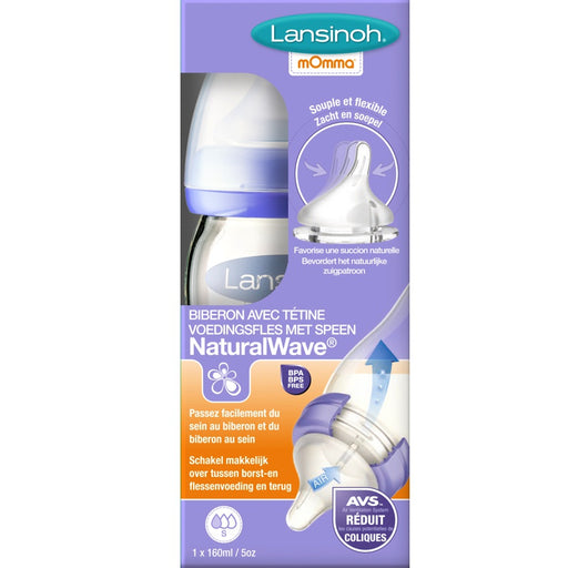 Lansinoh - Biberon Verre Natural Wave 160 ml