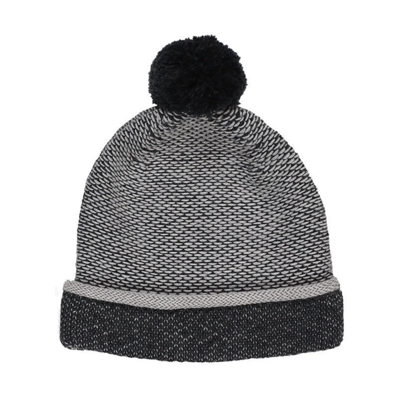 Les Petites Choses - Bonnet en laine Mérinos Bailey - Charcoal Snow Grey