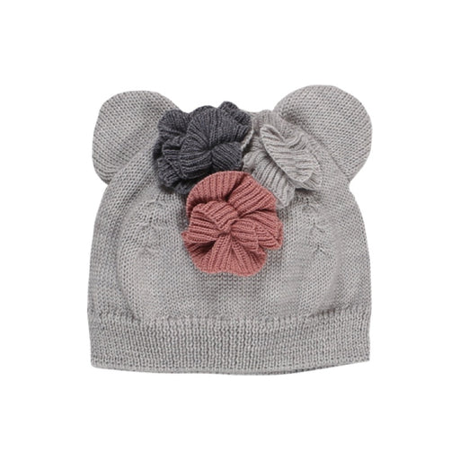LES PETITES CHOSES - Bonnet en laine Mérinos Bisou - Snow Grey