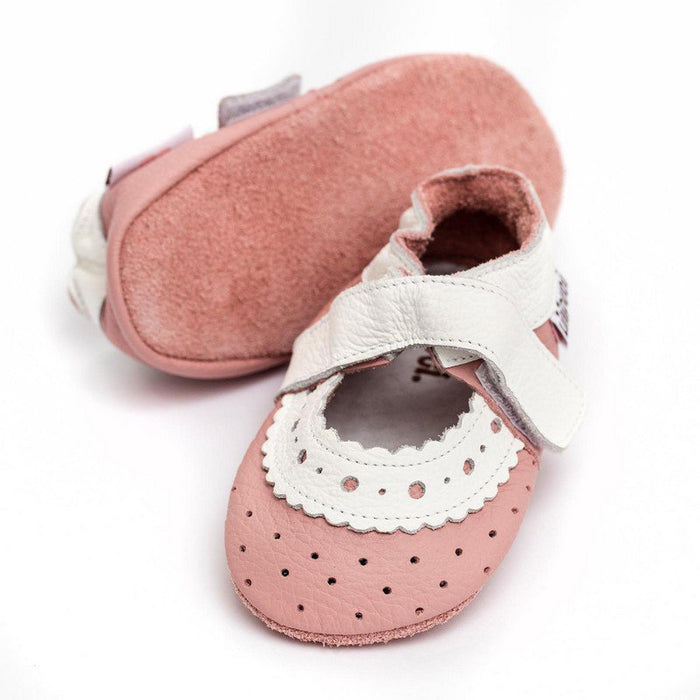 LILIPUTI - Chaussures cuir souple Baby - Rose