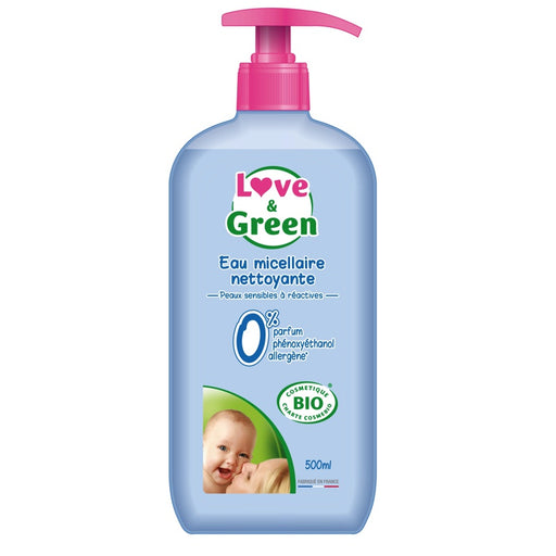Love and Green - Eau micellaire nettoyante bio 500 ml