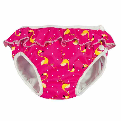 IMSE VIMSE - Maillot de bain couche lavable - Rose à Flamants jaunes