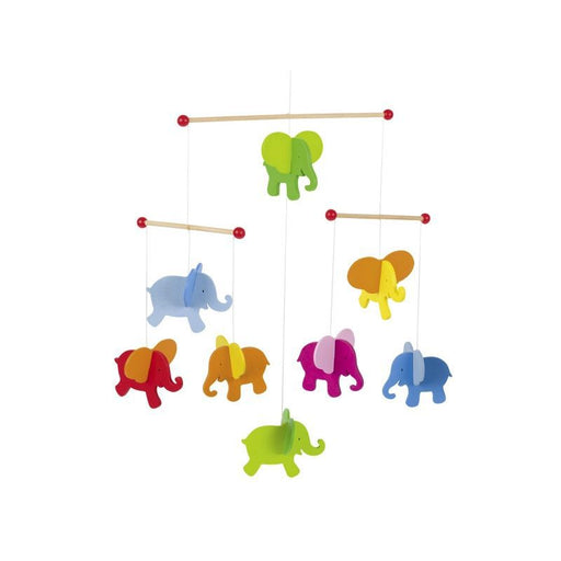 GOKI - Mobile en bois - Elephants