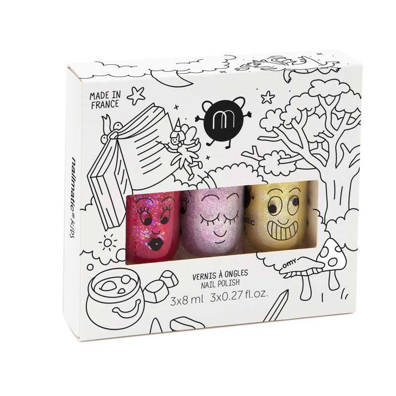 NAILMATIC - Coffret Vernis enfant base eau - Magic Forest