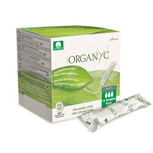 ORGANYC - Tampons bio applicateur compact d'origine végétale - Super Plus