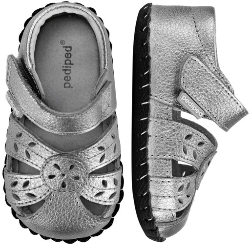 PEDIPED - Chaussures cuir souple Originals Daphné - Silver