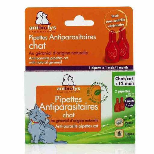 ANIBIOLYS - Pipettes antiparasitaires pour chat