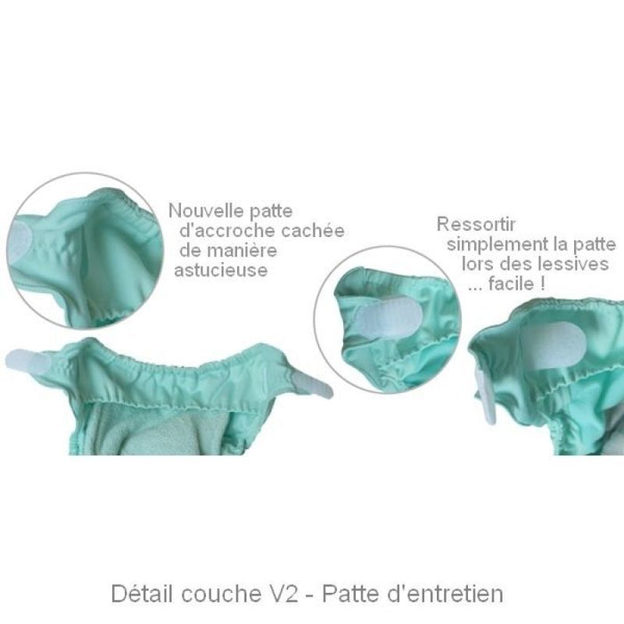 CLOSE - Couche lavable TU Pop-in - Bambou unie