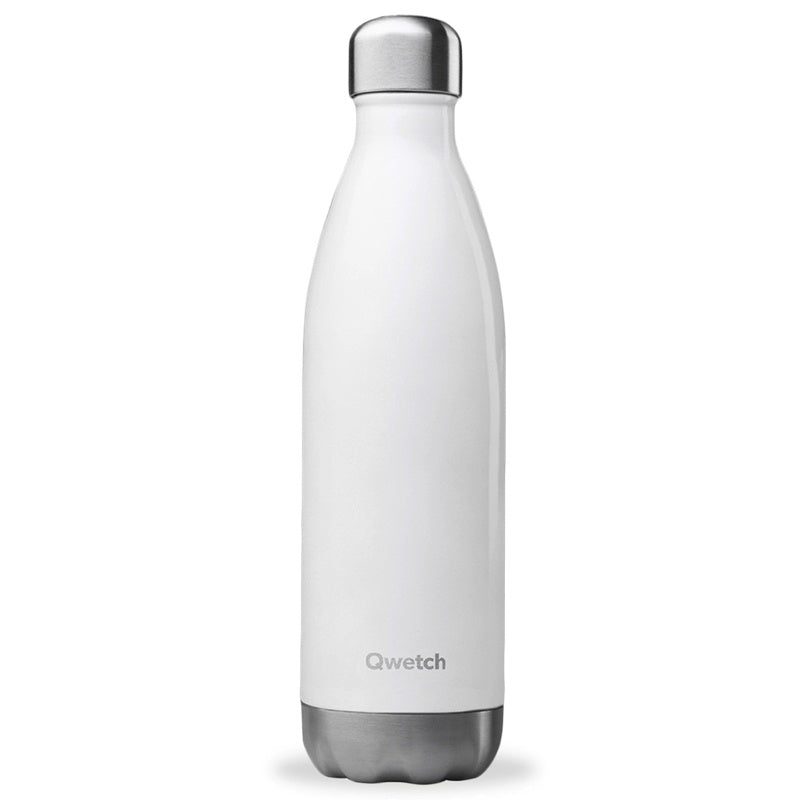 QWETCH - Bouteille isotherme 750 ml - Blanc brillant