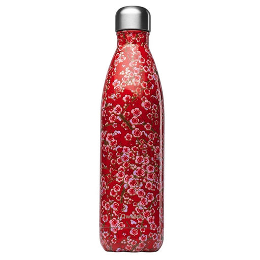 QWETCH - Bouteille isotherme 750 ml - Fleurs rouges