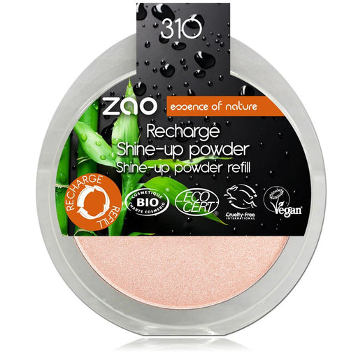 ZAO MAKE UP - Recharge enlumineur poudre bio Shine Up Champagne Rose