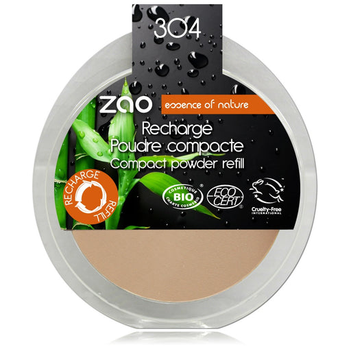 ZAO MAKE UP - Zao MakeUp Recharge Poudre compacte 304 Capuccino