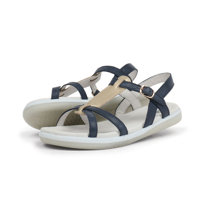 BOBUX - Chaussures cuir souple Kid+ Pixie - Navy Misty Gold