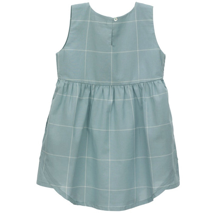 SERENDIPITY - Robe coton bio - Blue Lake Checks