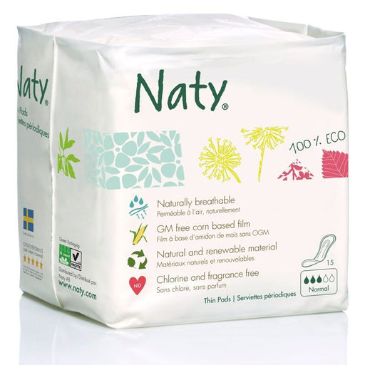 Naty - Serviettes hygiéniques bio - Normal