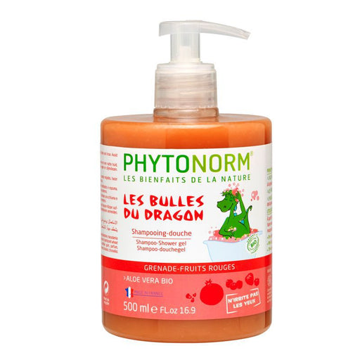 PHYTONORM - Shampooing douche bio Les bulles du Dragon Grenade-Fruits Rouges