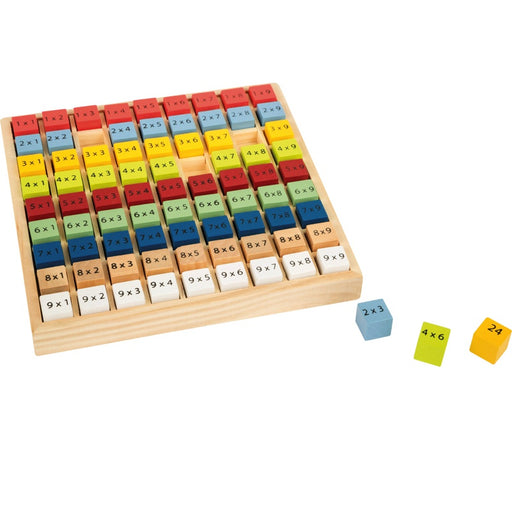 SMALL FOOT - Table de multiplication multicolore en bois