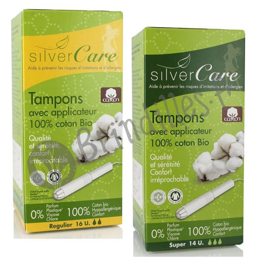 SILVERCARE - Tampons avec applicateur en coton bio