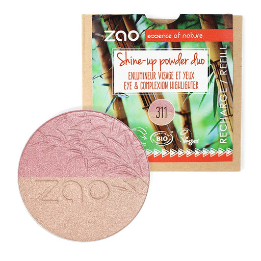 ZAO MAKE UP - Recharge Poudre bio Shine Up 311 Rose et Or