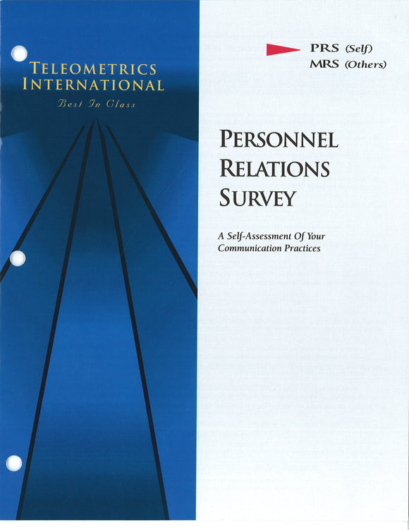 Survey Booklets -- Self-Survey>> Personnel Relations Survey (PRS)