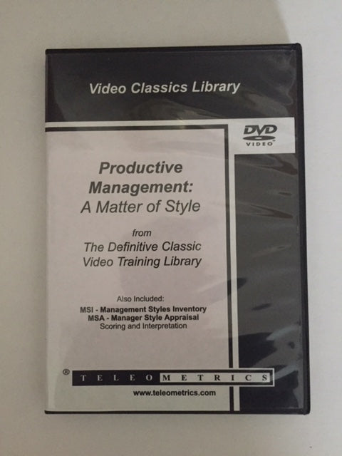 Video>> Productive Management - A Matter of Style (Classic)