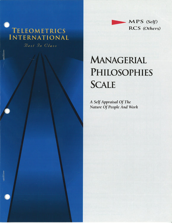 Self-Survey>> Managerial Philsophy Scale (MPS)