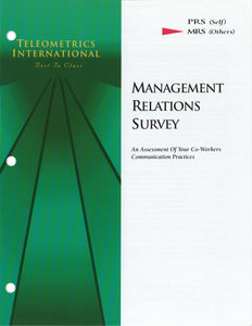 Survey Booklets -- Co-Worker Feedback>> Management Relations Survey (MRS)